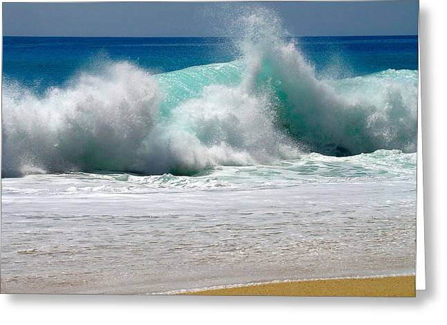 Sand Art Greeting Cards - Wave Greeting Card by Karon Melillo DeVega