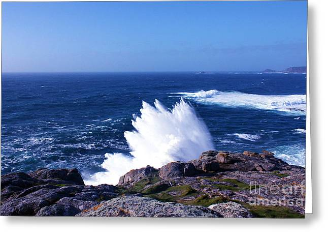 Cape Cornwall Greeting Cards - Wave Like Quartz Greeting Card by Terri  Waters
