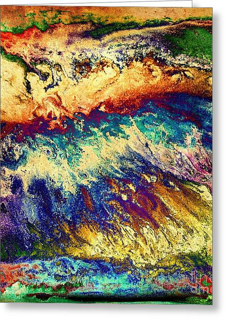 Patty Vickniar Greeting Cards - Wave of Color Greeting Card by Patty Vicknair