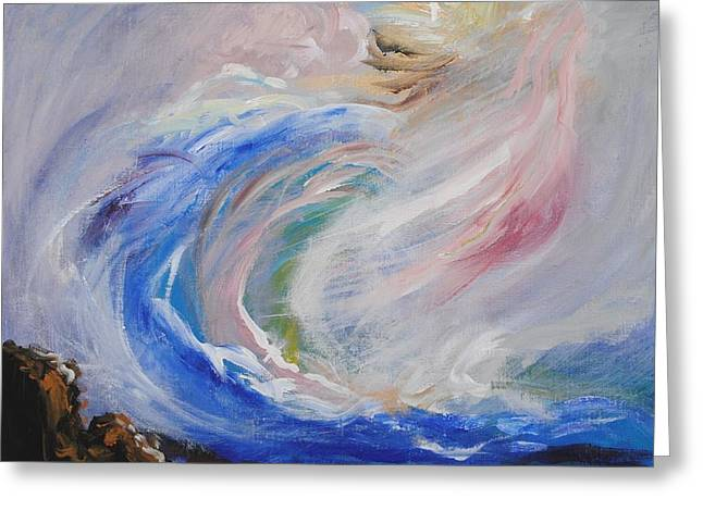 League Paintings Greeting Cards - Wave of Healing Greeting Card by Patricia Kimsey Bollinger