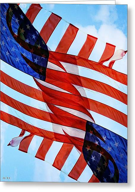 Servicewoman Greeting Cards - Wave Of Thanks To All Who Serve Greeting Card by Rene Crystal