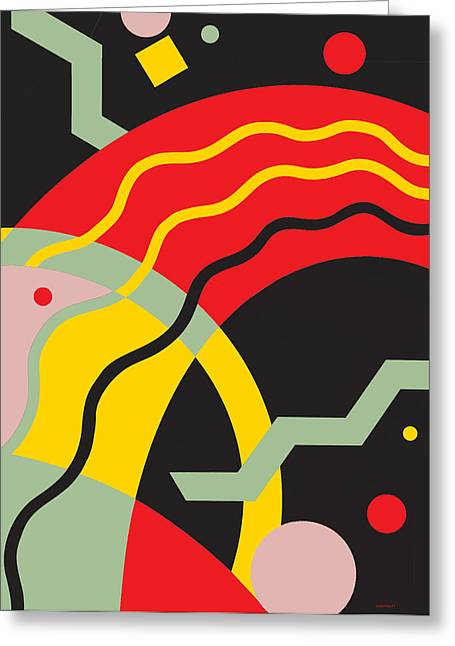Curvilinear Greeting Cards - Wave Pattern 4 Greeting Card by David Chestnutt