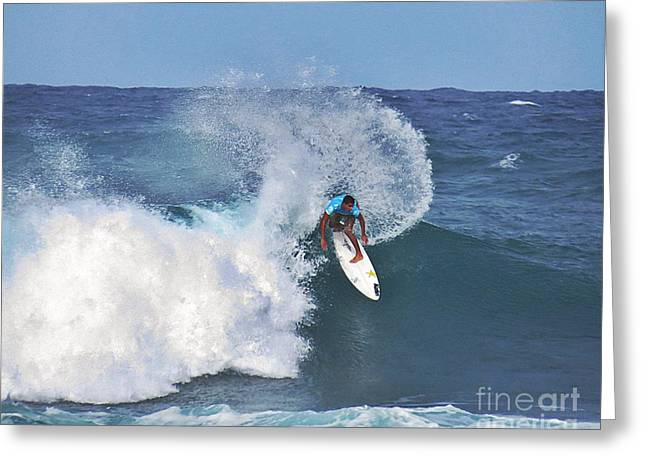 Surfing Photos Greeting Cards - Wave Rider Greeting Card by Scott Cameron
