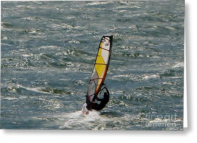 Gift Ideas For Him Greeting Cards - Wave Rider Greeting Card by Susan Garren