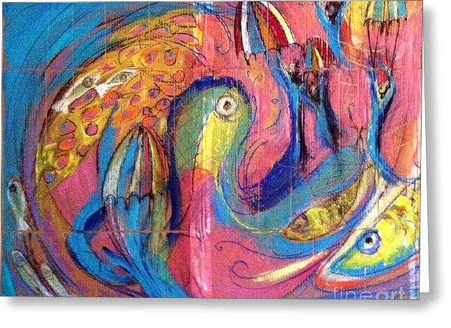 Prophecy Pastels Greeting Cards - Wave Greeting Card by Sarah Nowlin