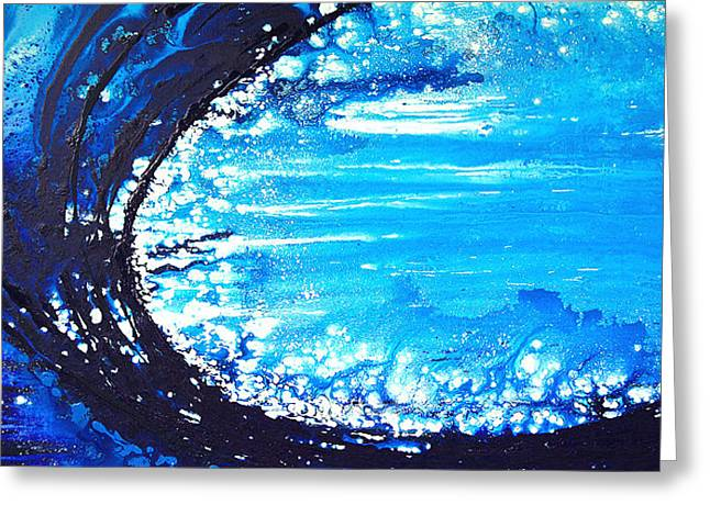 Waves Greeting Cards - Wave Greeting Card by Sharon Cummings