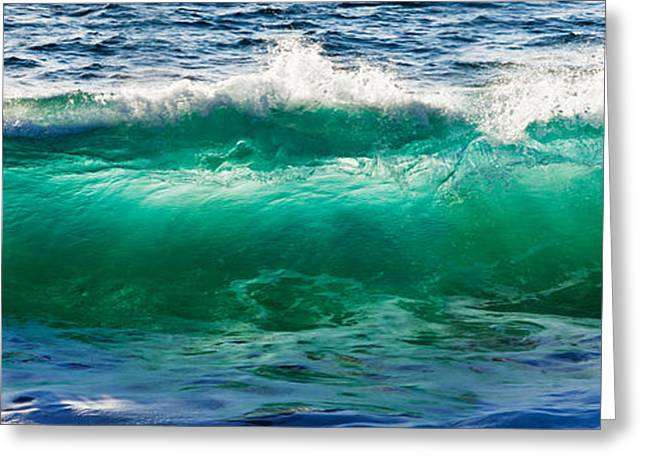 Baja California Greeting Cards - Wave Splashing On The Beach, Todos Greeting Card by Panoramic Images