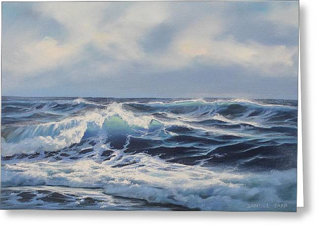 Aotearoa Greeting Cards - Wave Study 3 Greeting Card by Samuel Earp