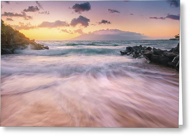 Wave Surge Greeting Card by Hawaii  Fine Art Photography