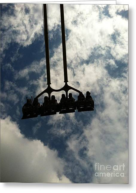 Kennywood Park Greeting Cards - Wave Swinger Greeting Card by Michael Krek
