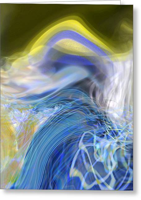 Abstract Expressionist Greeting Cards - Wave Theory Greeting Card by Richard Thomas