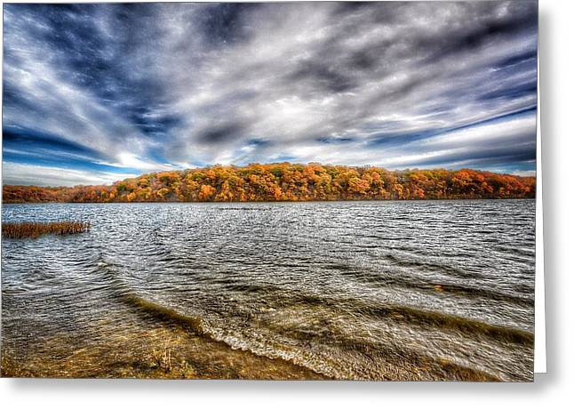 Hdr Landscape Greeting Cards - Wave to Fall Greeting Card by Lisa Plymell