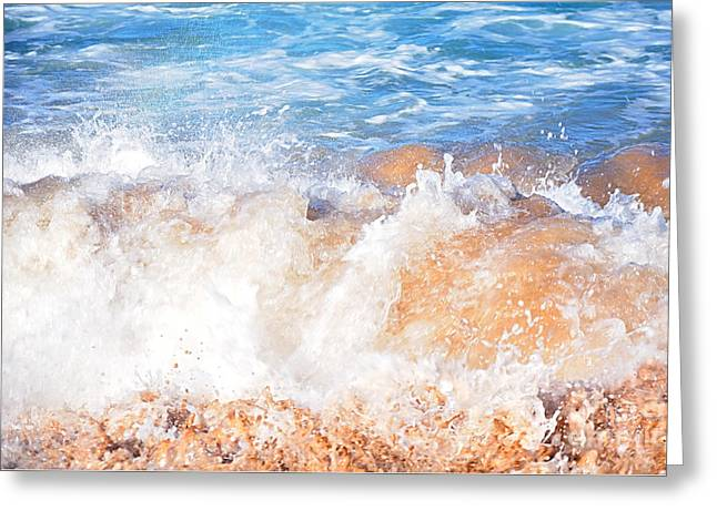 Recently Sold -  - Ocean Photography Greeting Cards - Wave up Close Greeting Card by Kaye Menner