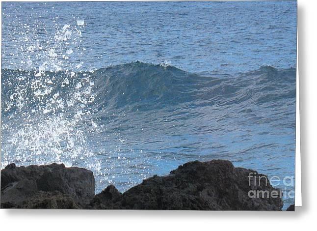 Wave - Vague - Ile De La Reunion - Island Reunion Greeting Card by Francoise Leandre
