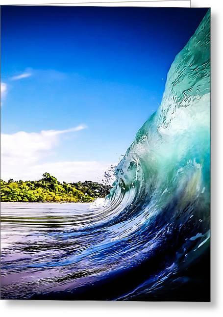 Summer Digital Art Greeting Cards - Wave Wall Greeting Card by Nicklas Gustafsson