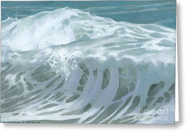 Wave X Greeting Card by Clinton Hobart