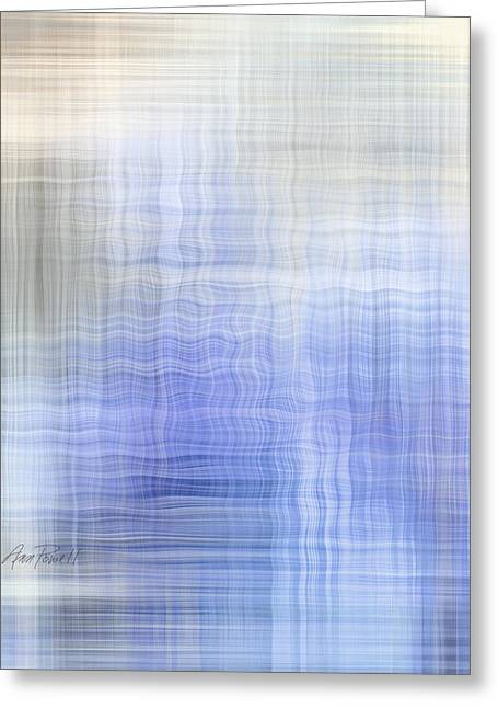 Ann Powell Greeting Cards - Wavelength - abstract art Greeting Card by Ann Powell