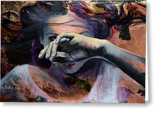 Hands Greeting Cards - Wavering... Greeting Card by Dorina  Costras