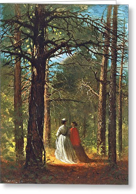 Winslow Homer Digital Art Greeting Cards - Waverly Oaks Greeting Card by Winslow Homer