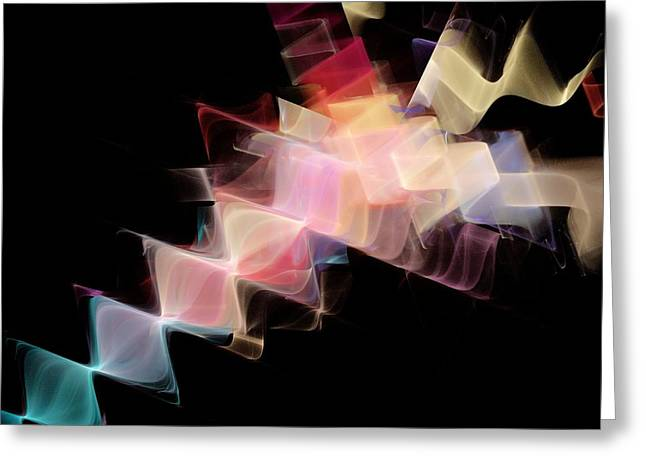 Transfer Greeting Cards - Waves, abstract artwork Greeting Card by Science Photo Library