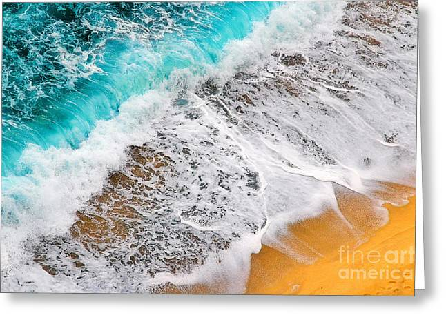 Silvia Ganora Greeting Cards - Waves abstract Greeting Card by Silvia Ganora