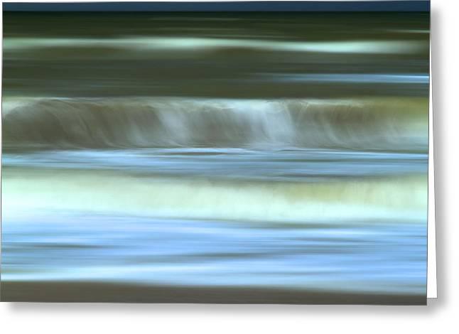 Waves Greeting Card by BERNARD JAUBERT