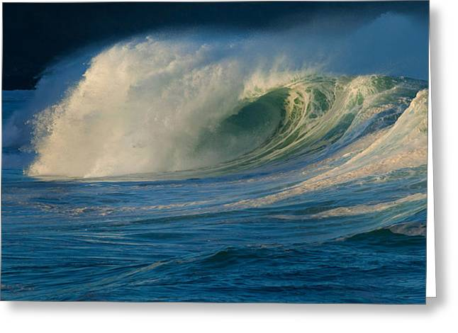 Strength Photographs Greeting Cards - Waves Breaking In The Pacific Ocean Greeting Card by Panoramic Images