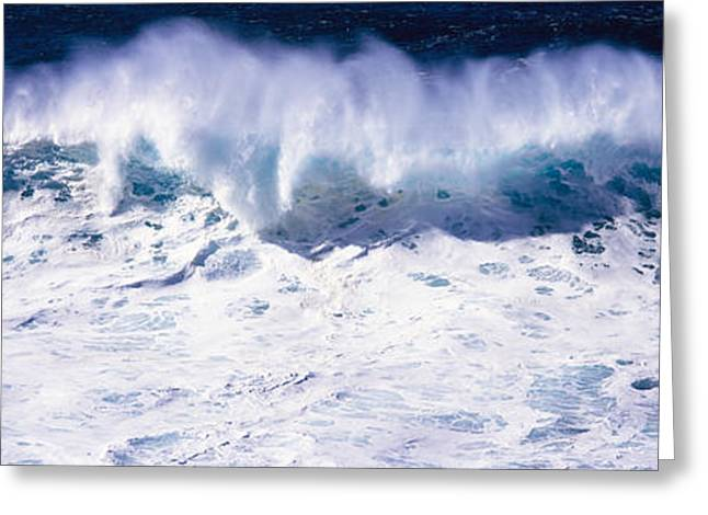 Strength Photographs Greeting Cards - Waves Breaking In The Sea, California Greeting Card by Panoramic Images