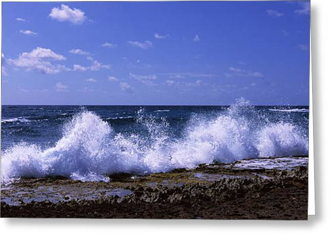 Antilles Greeting Cards - Waves Breaking On The Coast, East End Greeting Card by Panoramic Images