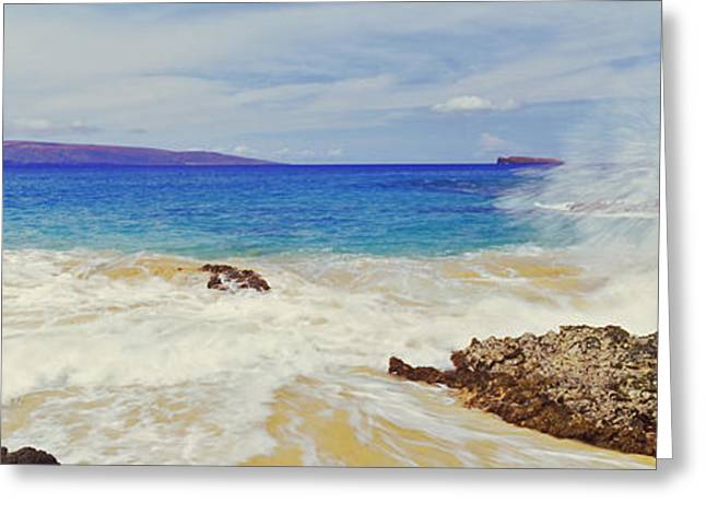 Waves Breaking On The Coast, Maui Greeting Card by Panoramic Images