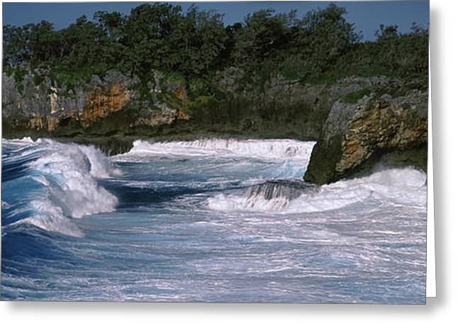 Ocean Images Greeting Cards - Waves Breaking On The Coast, Vavau Greeting Card by Panoramic Images