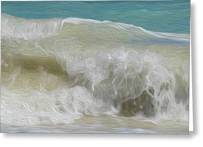 Waves Greeting Card by Cheryl Young