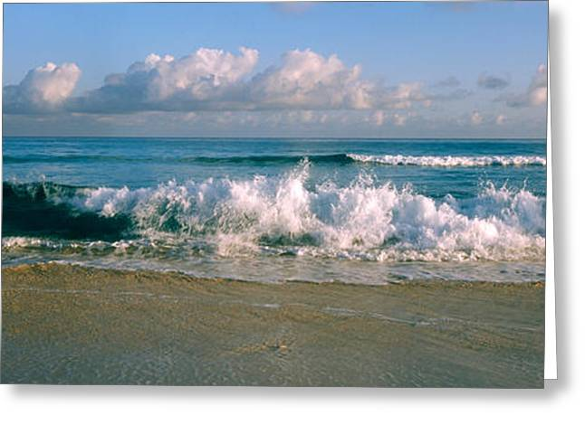 Matanzas Greeting Cards - Waves Crashing On The Beach, Varadero Greeting Card by Panoramic Images