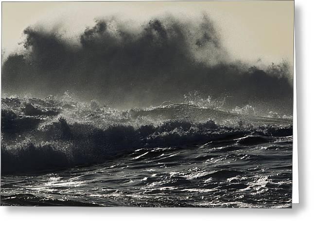 Ocean Shore Greeting Cards - Waves Crashing Western Australia Greeting Card by Hiroya  Minakuchi