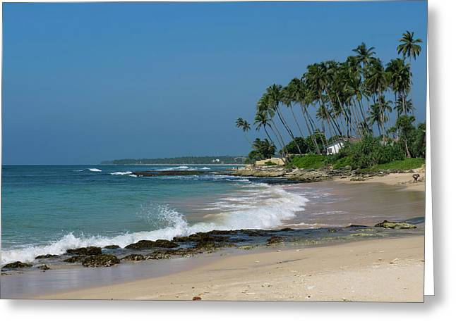 Waves Cresting Along Beach, A2 Road Greeting Card by Panoramic Images