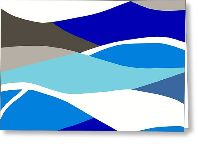 Print Greeting Cards - Waves Greeting Card by Eloise Schneider