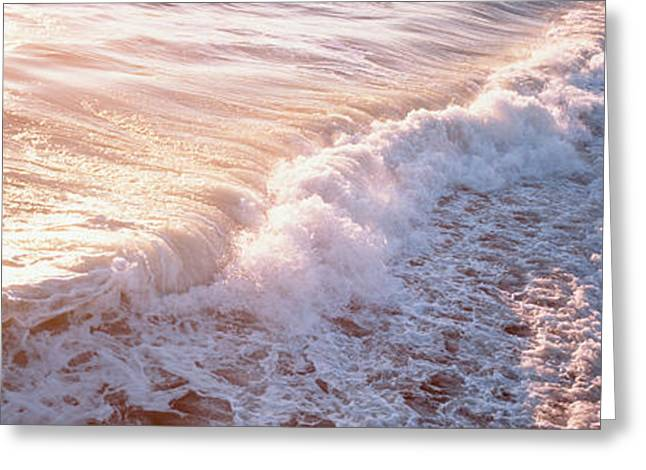Fl Greeting Cards - Waves Fl Usa Greeting Card by Panoramic Images