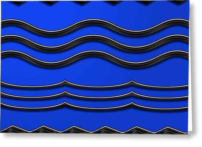 Installation Art Greeting Cards - Waves in Blue Greeting Card by Tina M Wenger