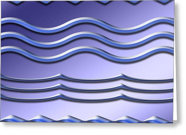 Installation Art Greeting Cards - Waves in Soft Purple Greeting Card by Tina M Wenger