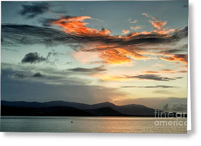 Michelle Greeting Cards - Waves In The Clouds Greeting Card by Michelle Meenawong