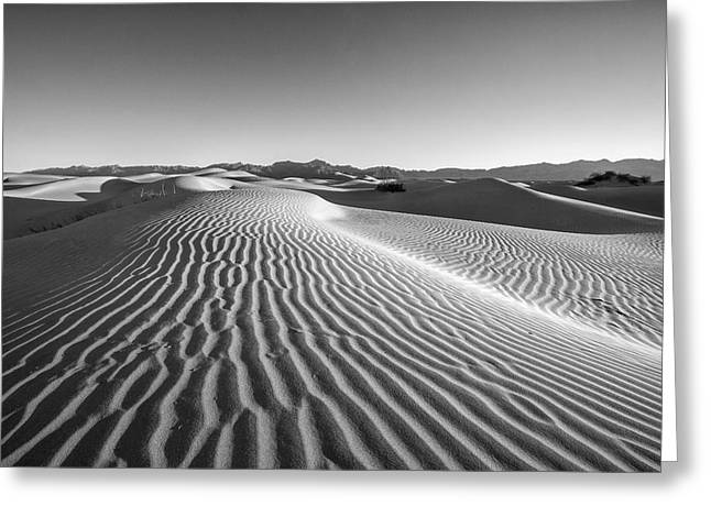 Deserts Greeting Cards - Waves in the distance Greeting Card by Jon Glaser