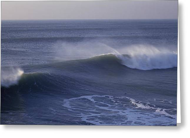 California Ocean Photography Greeting Cards - Waves In The Ocean, California, Usa Greeting Card by Panoramic Images