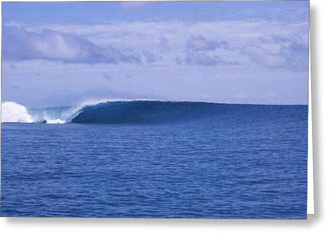 Tiger Economy Greeting Cards - Waves In The Sea, Indonesia Greeting Card by Panoramic Images