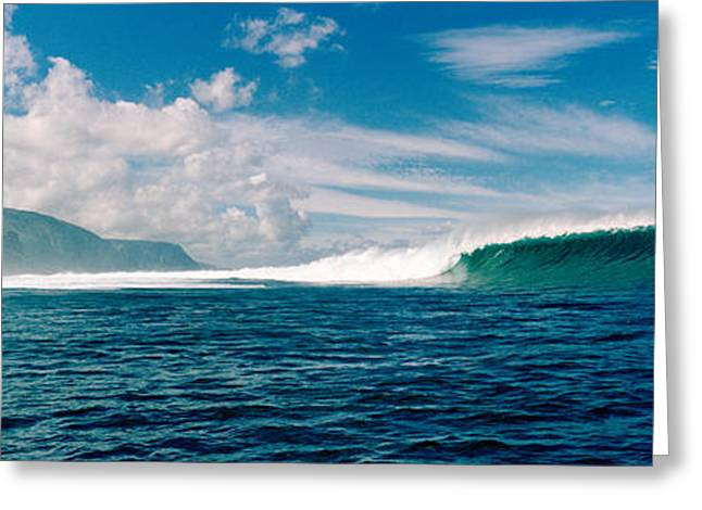 Strength Photographs Greeting Cards - Waves In The Sea, Molokai, Hawaii Greeting Card by Panoramic Images