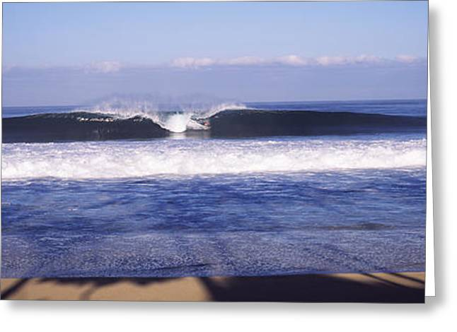 The Natural World Greeting Cards - Waves In The Sea, North Shore, Oahu Greeting Card by Panoramic Images