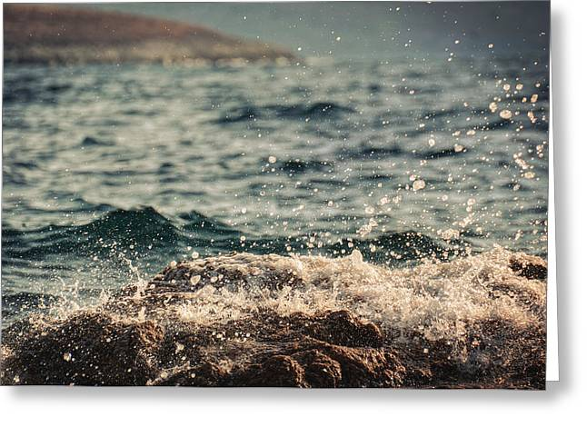 Lomo Colors Greeting Cards - Waves in Time I Greeting Card by Taylan Soyturk