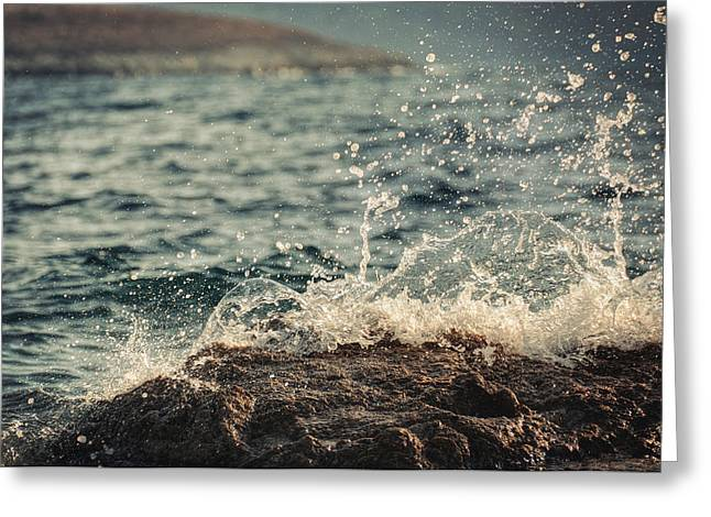 Wind Surfing Print Greeting Cards - Waves in Time II Greeting Card by Taylan Soyturk