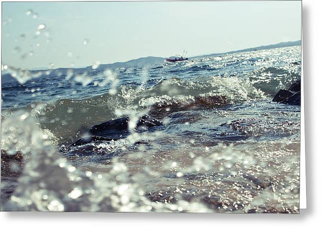 Seacoast Greeting Cards - Waves Greeting Card by Ivan Vukelic