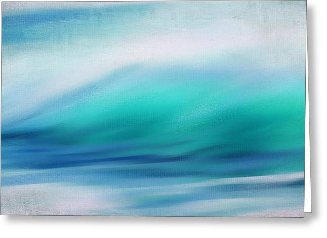 Abstract Seascape Art Greeting Cards - Waves Greeting Card by Lourry Legarde