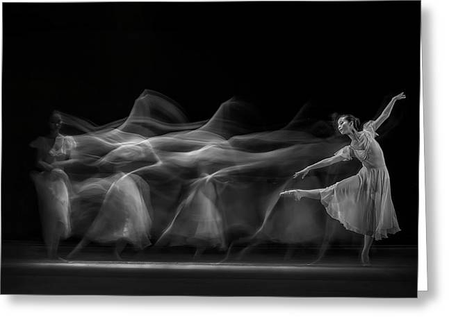 Waves Of Balerina Greeting Card by Antonyus Bunjamin (abe)
